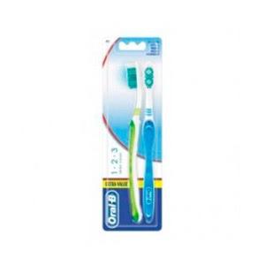 Oral-B Shiny Clean 1-2-3 cepillo de dientes 2uds