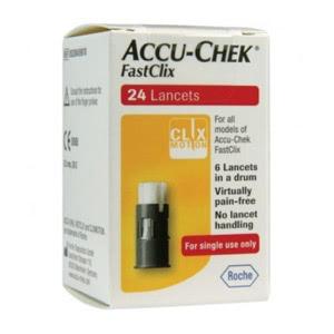 Accu-Check Fastclix 24 lancetas