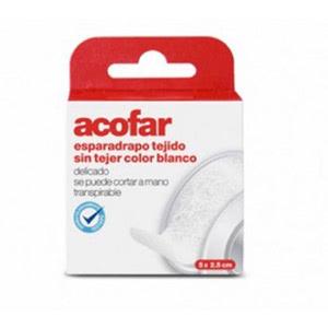 Acofar Esparadrapo Tejido Blanco 5x2,5cm