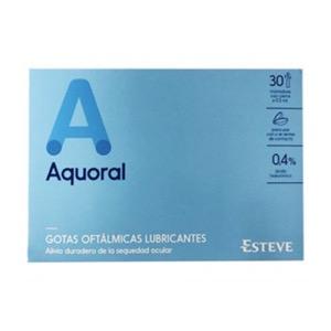 Aquoral Gotas Oftálmicas Lubricantes Estériles 0.5 Ml 30uds